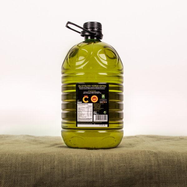 Oli d'oliva verge extra. Cooperativa Agrícola de l'Albi. Etiqueta garrafa 5 L