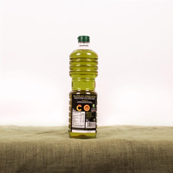 Oli d'oliva verge extra. Cooperativa Agrícola de l'Albi. Etiqueta ampolla 1 L oli