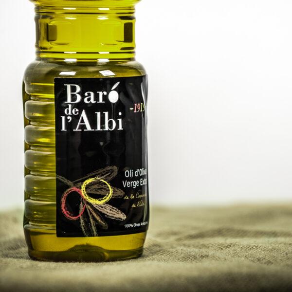 Oli d'oliva verge extra. Cooperativa Agrícola de l'Albi. DEtall ampolla 1 L oli