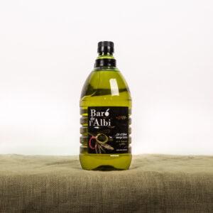 Oli d'oliva verge extra. Cooperativa Agrícola de l'Albi. Ampolla 2 L olli