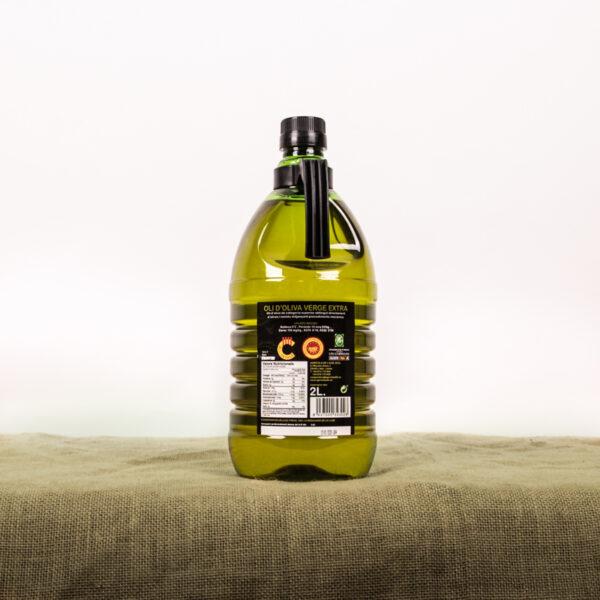 Oli d'oliva verge extra. Cooperativa Agrícola de l'Albi. Etiqueta ampolla 2 L oli
