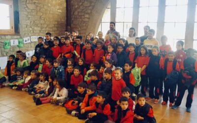 Visita dels alumnes de l'escola de L'Albi